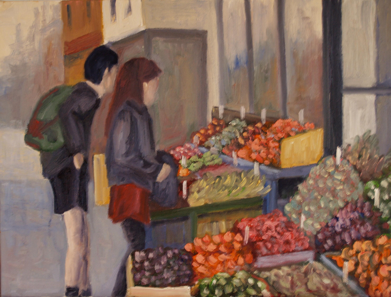 Kids Buying Fruit at Kensington Market